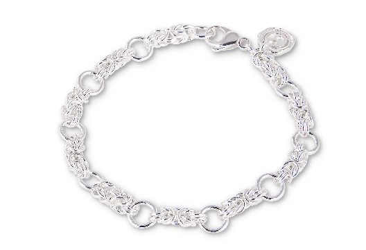 Gallery Gemma Chain Maille Collection  Silver Micro Byzantine & Lin...