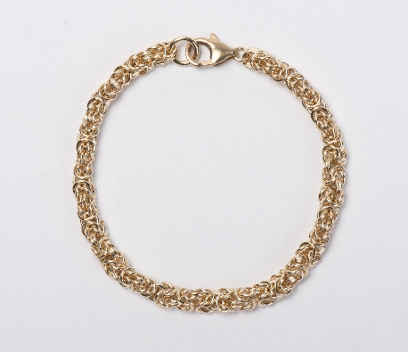 Gallery Gemma Chain Maille Collection  Rose Gold Micro Byzantine Br...