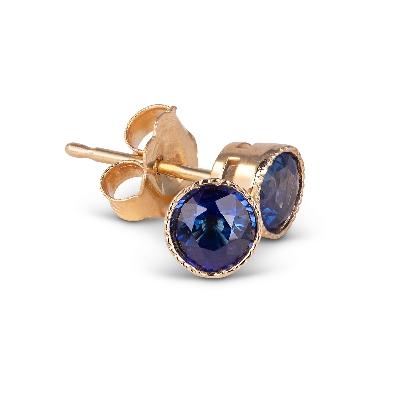 Gallery Gemma Fine Gems Collection  Cornflower Blue Sapphire Stud E...
