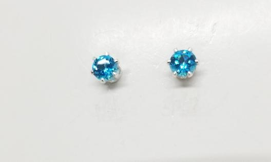 Gallery Gemma Gemstone Collection  Topaz Stud Earrings Genuine topa...