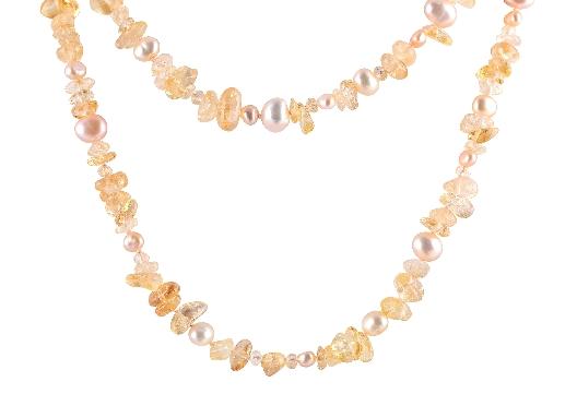 Artist - Anne-Marie Warburton  Citrine tumbled gemstones strung and...