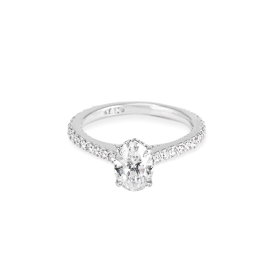 Gallery Gemma Diamond Classics   18k White Gold & Oval Shape Diamon...