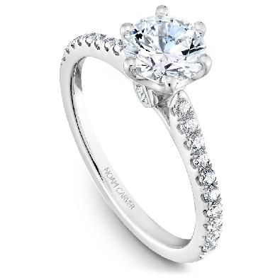 Artist:  Noam Carver Bridal; Montreal  14 kt White Gold Diamond Sol...