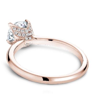 Artist:  Noam Carver Bridal; Montreal  14 kt Rose Gold Diamond Soli...