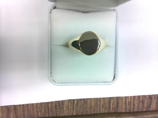 10kt y Signet Ring; sz 11.5 OTH
