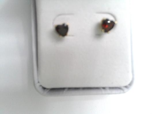 14kt y stud earrings heart shaped garnets  oth