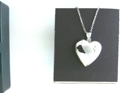 Ster locket diamond heart OTH