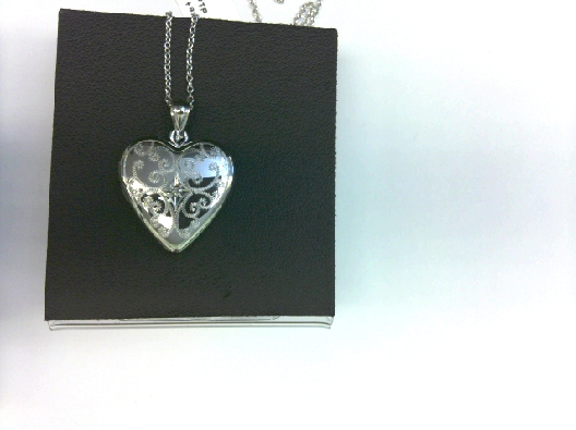 Ster locket heart engrave dia OTH