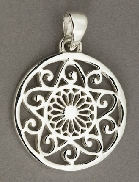 Sterling Silver Southern Gates round medium pendant 112   high including bale by 1   wide approxP182