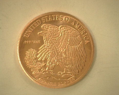 .999 Fine Copper 1oz Walking Liberty Coin