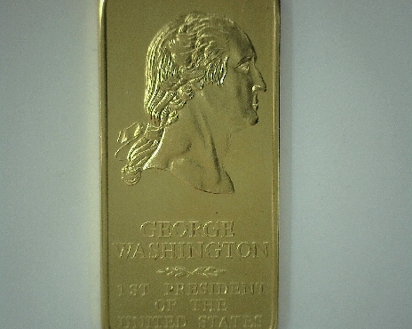 24k gold plated Danbury Mint 1 ounce bronze Presidential ingot