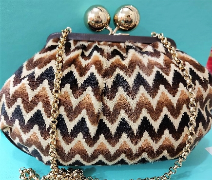 Tiffany & Co. Chevron Evening Bag Original Retail around $1500 Comes with Tiffany Box and Dust Bag