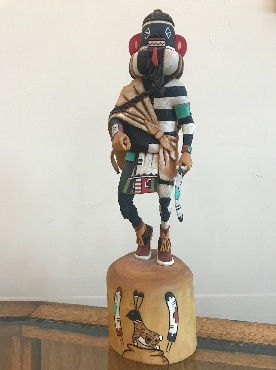 Hopi Left Handed Warrior Kachina Staue