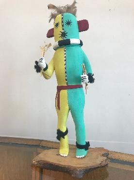 Hopi Blue and Yellow Kachina Doll