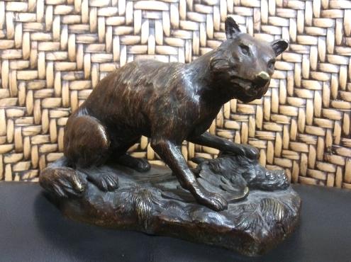 Bronze Coyote Statue