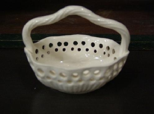 White porcelain basket.