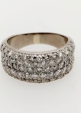14K White Gold 2.5CTTW Diamond Band Size 8