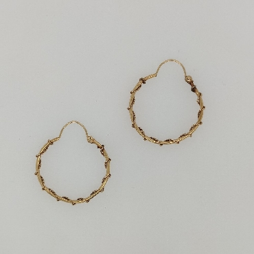 14K Yellow Gold Wire Wrapped Hoops