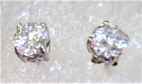 Sterling Silver studs with cz s.