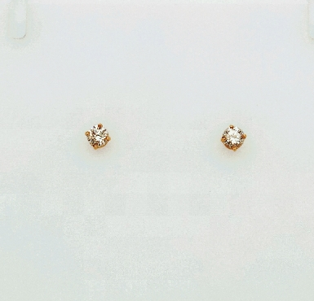 14k yg diamond studs w/gf backs. .50 tdw (B1)