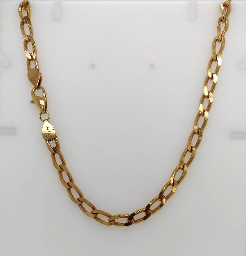 14K Yellow Gold Men s Curb Link Necklace 18
