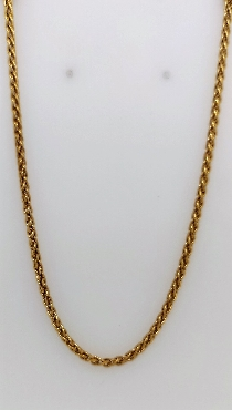 18kt yellow gold necklase 20 inches