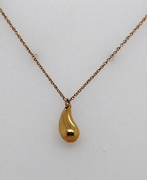 Tiffany & Co. Elsa Peretti 18k Yellow Gold Tear Drop Pendant Necklace