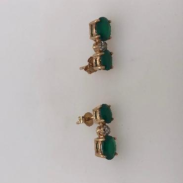 Sterling Silver OVal Citrine Drop Earrings