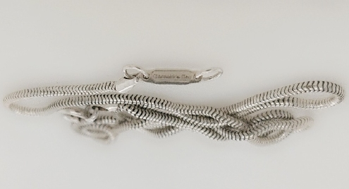 Sterling Silver Tiffany and Co Snake Chain 18.5 Inches