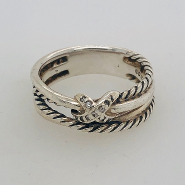 David Yurman X Collection Ring Size 6.75