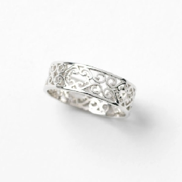 Southern Gates Balcony Series band. Size 8. rhodium plated. R159/8