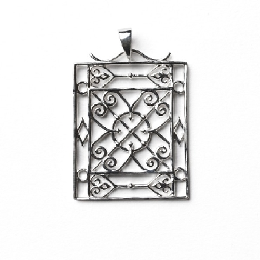 Piazza Gate Pendant from the Southern Gates® Terrace Series.  33x25mm. P953