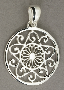 Sterling Silver Southern Gates large pendant. 2   high including bale by 1-5/8   wide (approx).  P170