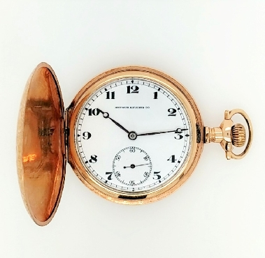 Gold Filled Arthur Aeverts Co. Pocket Watch with Hunter Case 17J