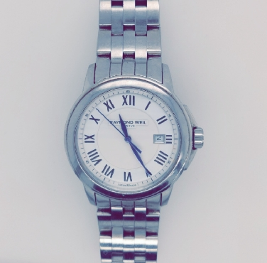 Raymond Weil Men s Tradition White Dial Watch with White Dial and Steel Bracelet  Comes with Box