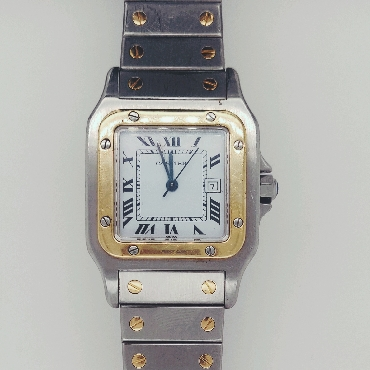 Cartier Santos Galbee Automatic Wristwatch  AC 23.80g 29mm  Stainless/18K Yellow Gold