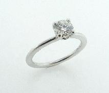 18 karat white gold ring mount by Troy Shoppe set with:  - HOF 0.521ct F; SI1 (HOF33381)