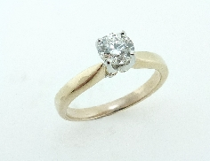 14K yellow gold engagement ring by Troy Shoppe set with:  0.462 I; VS2 HOF  HOF141721