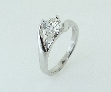19K white gold ring with Platinum head 0.623ct HOF I VS2 Ideal TS-TD-0218 AGS0010416207