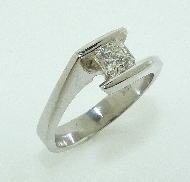 19K white gold engagement ring Set with a Dream cut diamond by Hearts On Fire:     - 0.515ct G VS2 (DRM5681)