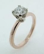 14K rose and white gold engagement ring 0.666 ct G VS1 HOF150109