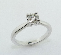 14KW Hearts On Fire engagement ring set with: - 0.502ct; HOF110381; I; SI2 AGS#104051116059