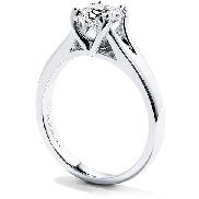 18K white gold engagement ring known as   Seduction Dream Solitaire   by Hearts On Fire Set with an ideal Dream cut diamond by Hearts On Fire     -Center: 0.518ct F SI1 (DRM10166)