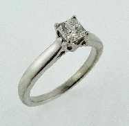 18K white gold engagement ring by Hearts On Fire set with:  - 0.456ct H SI1 dream cut diamond  AGS:104064469099