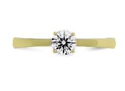 18K yellow gold enagement ring    Signature Solitaire   By Hearts On Fire set with: - 0.51ct I; SI1 HOF146803