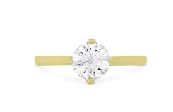 18K yellow gold engagement ring   Deco Chic Solitaire   by Hearts On Fire set with:  - 0.570ct I; VS2 (HOF147032)  - 30*=0.10cttw I-J; VS-SI