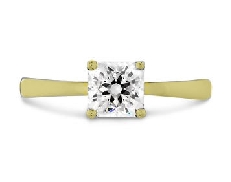 18K yellow gold engagement ring   Dream signature solitaire   by Hearts On Fire set with:  - 0.51ct G; SI1 (DRM27238)