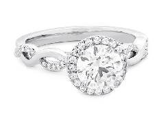 18KW Destiny Lace engagement ring by Hearts On Fire set with: - 0.533ct I; VS2 HOF153792  - 0.21cttw I/J; VS-SI Signature series