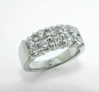 18K white gold ring; known as  Enchantment Right Hand Ring  by Hearts On Fire -set with ideal round brilliant cut diamonds by Hearts On Fire; 1.55 carat total weight; VS-SI; G/H
