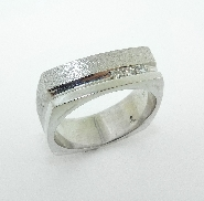 Mens Diamond Wedding Band with Hearts On Fire  by Troy Shoppe Jewellers 3=0.12cttw SI/VS GH Hearts On Fire diamonds 14K White Gold